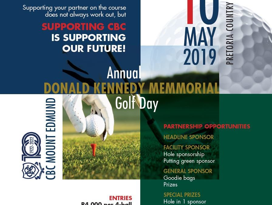 Annual Golf Donald Kennedy Golf Day – 10 May 2019