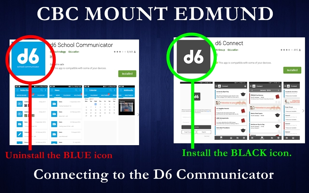 Connect with us with the D6 Connect App