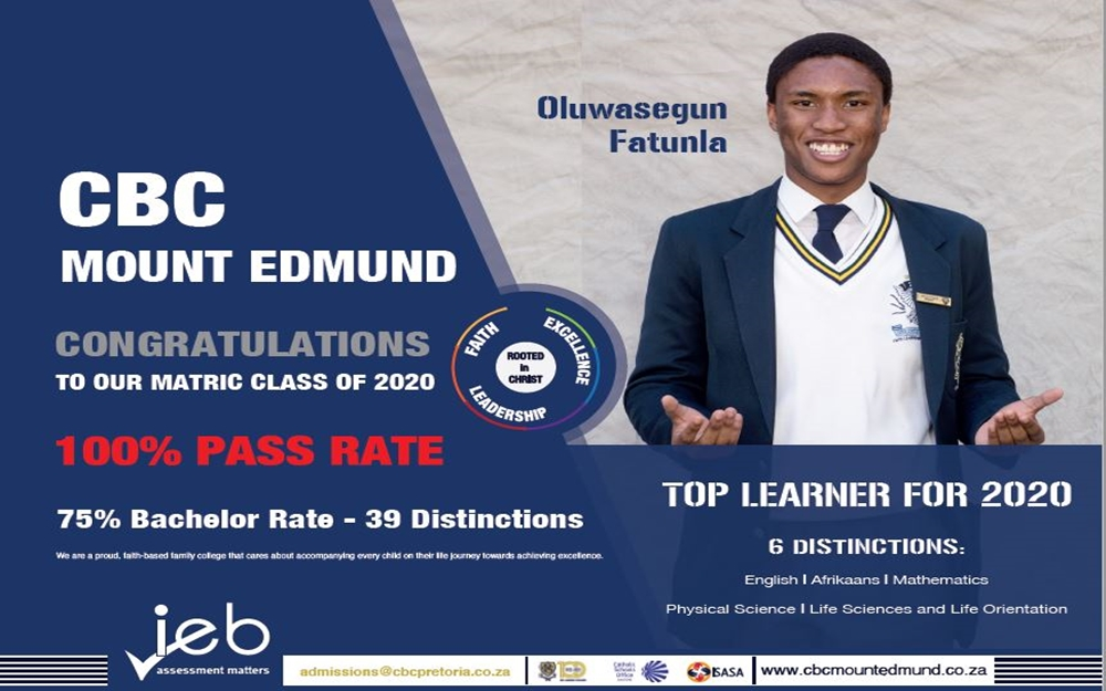 2020 Matric Results – 100% Pass Rate